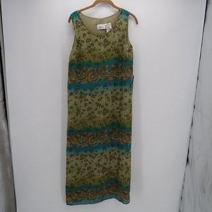 Kathie Lee Collection Floral Sleeveless Maxi Dress